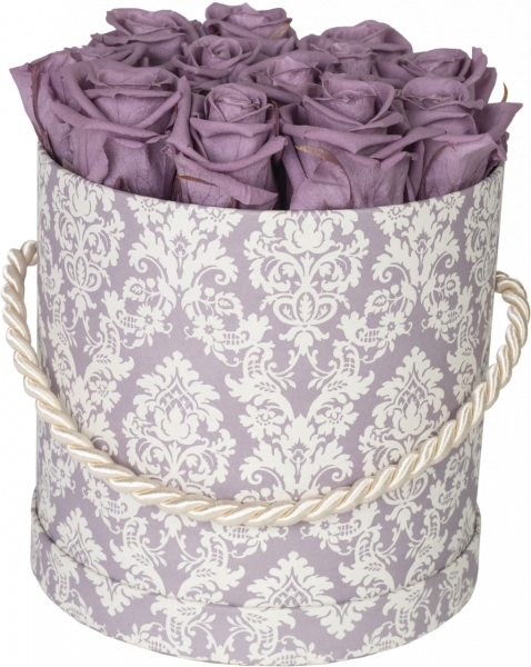 Hutschachtel Motiv Brokat lila