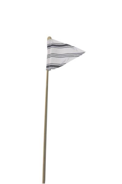 Fahne B9cm L40cm grau/weiß