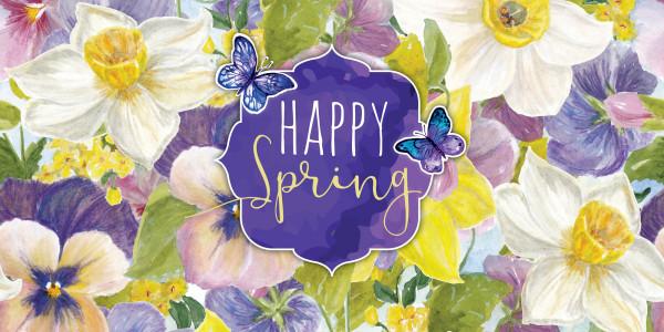 Deckenbanner - Happy Spring