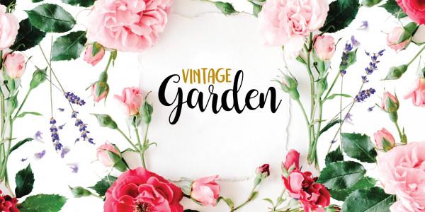 Deckenbanner - Vintage Garden
