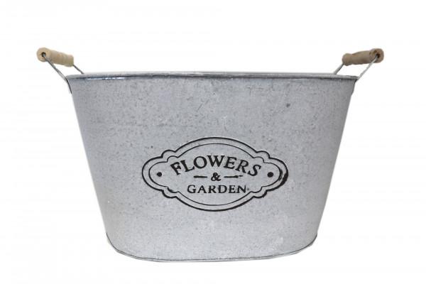 Jardiniere Flower&Garden L40cm B28cm H23,5cm weiß