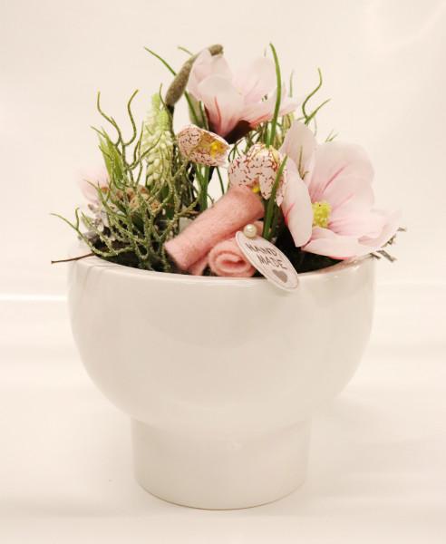 Gefäß Spring rosa-weiß Ø30cm H38cm