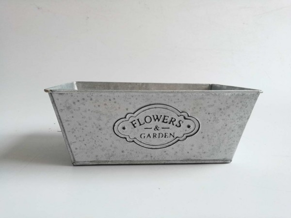 Schale Flower&Garden L23cm B15cm H9cm weiß