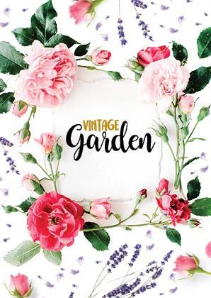 Postkarte - Vintage_Garden