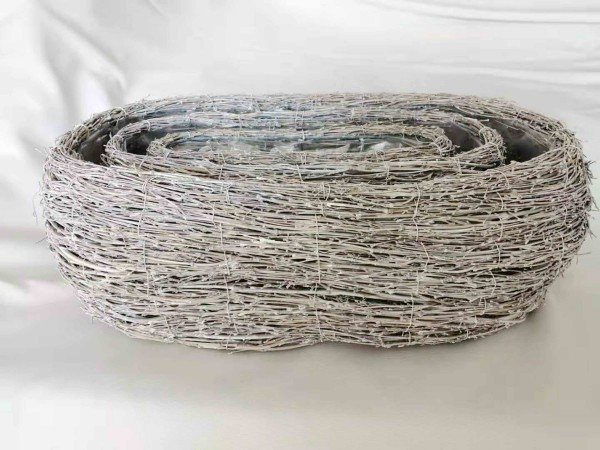 Korbset oval weiss washed Ø56/46/35cm S/3