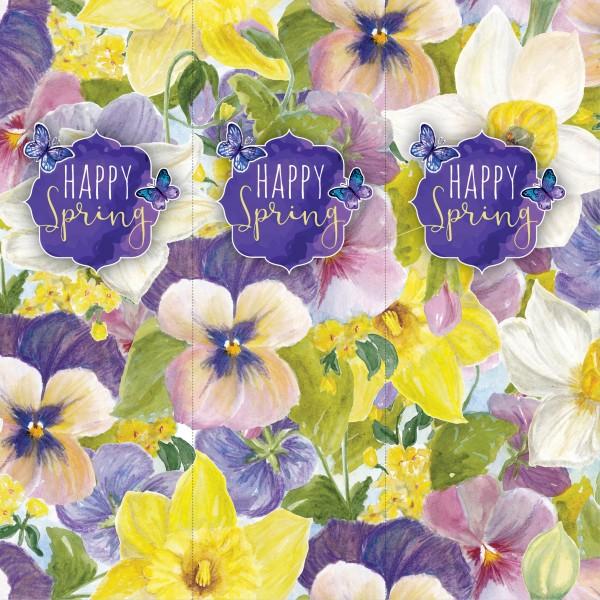 Tischaufsteller dreiseitig - Happy Spring