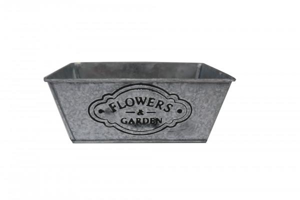 Schale Flower&Garden L17cm B11cm H7cm weiß
