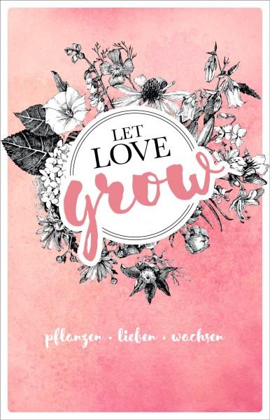 Thekenaufsteller - Let love grow