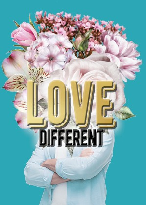 Postkarte - Love Different