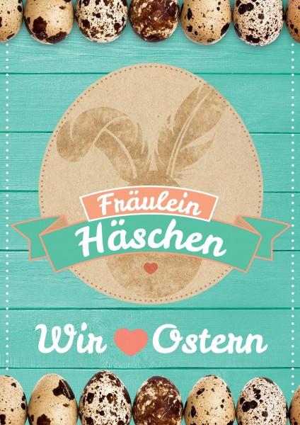 DIN-A1 Plakat - Fräulein Häschen