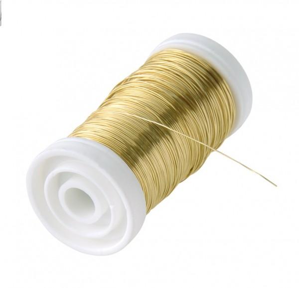 Golddraht 0,35mm 100g Spule im Polybeutel